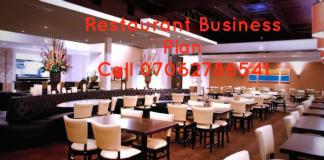 RestaurantBusiness Plan In Nigeria/ Latest Edition feasibility studies proposal