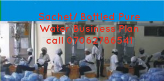 Sachet Pure Water Business Plan In Nigeria pdf