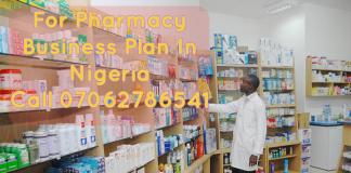Pharmacy Business Plan In Nigeria