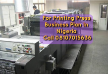 Printing Press Business Plan In Nigeria PDF