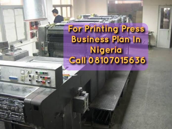 Printing Press Business Plan In Nigeria PDF